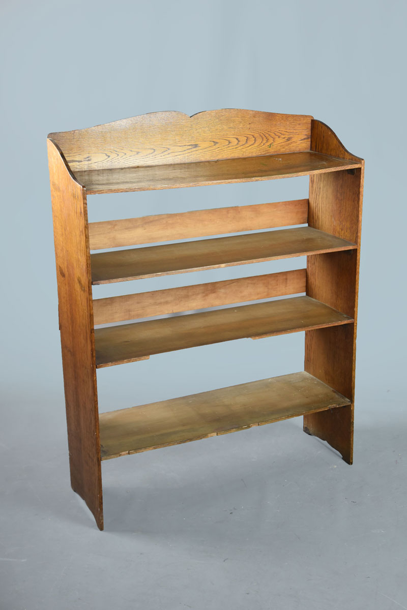 Oak Open Back Bookcase With Four Shelves The Classic Prop