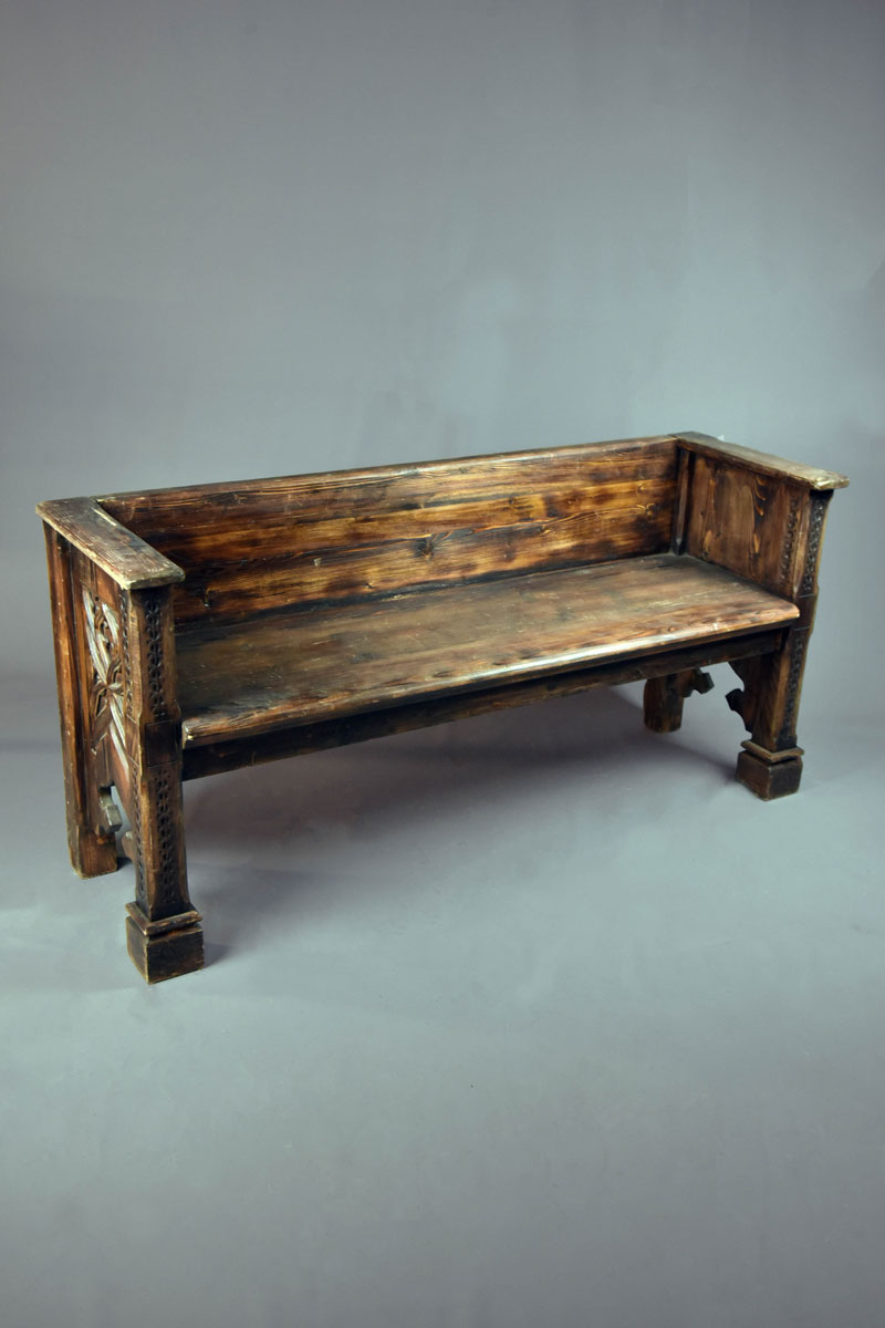 Enjoyable Medieval Style Bench Seat Various Lengths Carved Legs Machost Co Dining Chair Design Ideas Machostcouk